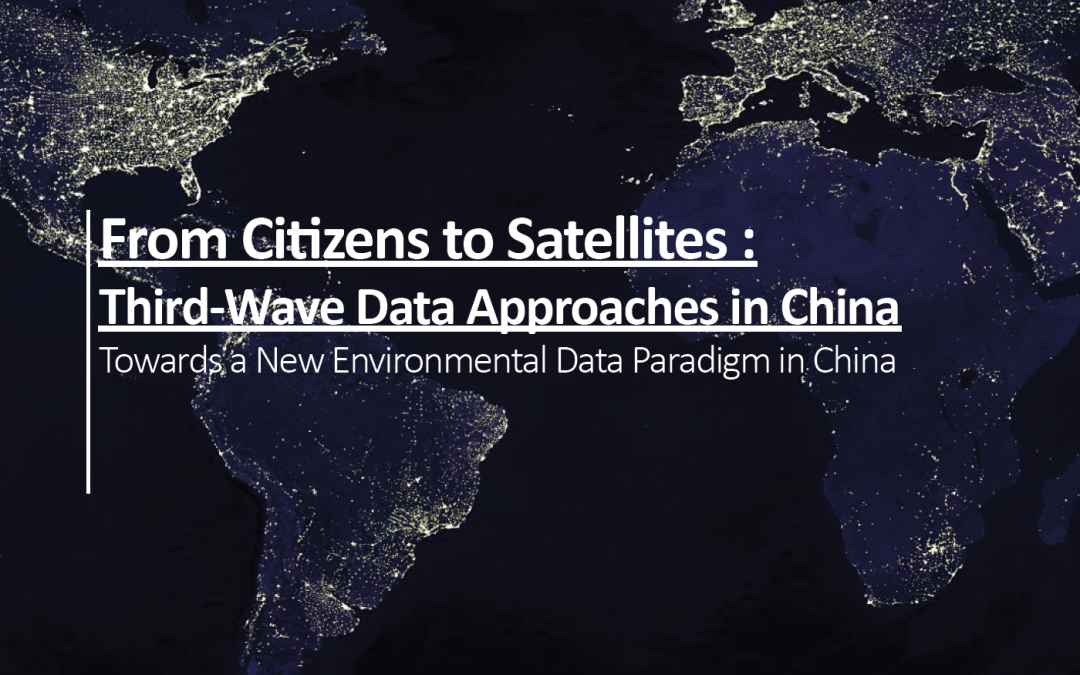 From Citizens to Satellites: Third Wave Data Approaches in China