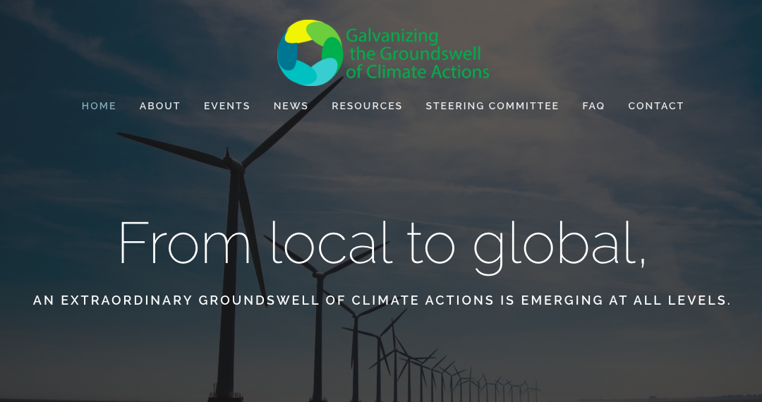 Galvanizing the Groundswell of Climate Actions