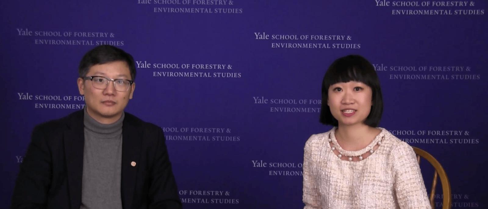 Screenshot from interview between Tina Huang and Daizong Lui