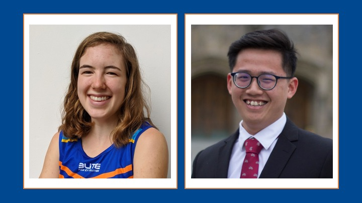 Claire Krummenacher and Yeo Zhi Yi Receive Best Capstone Prizes